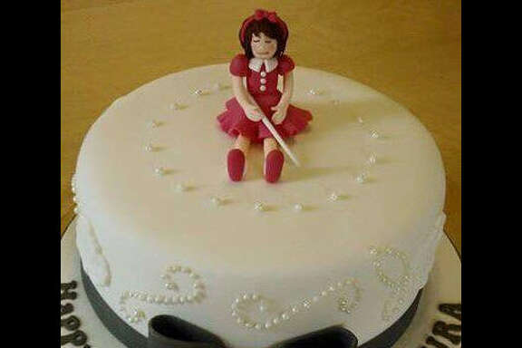 """Autocorrect got the better of a situation when  cake with a """"little blonde girl"""" on top turned into a cake with a """"little blind girl"""" on top. Take a look though the gallery to see more hilarious fails that are so bad, they're awesome.  Photo: @emilyseggie_ Twitter"""