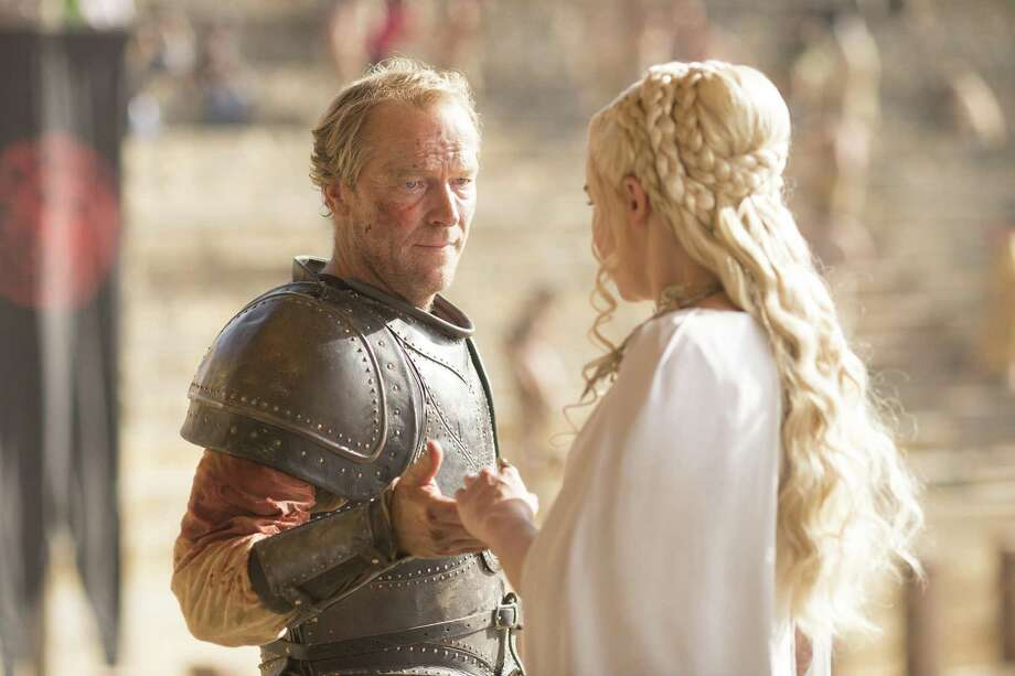 Iain Glen and Emilia Clarke, Game of Thrones | Photo Credits: HBO