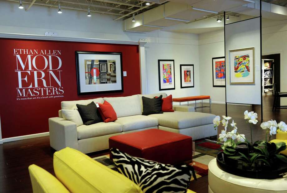 A Section Of The Showroom At Ethan Allen Interiors Is Photographed Company Headquarters On