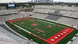 The stadium before Houston Cougars play against Grambling State Tigers on September 6, 2014 at John O'Quinn Field at TDECU Stadium in Houston, TX. (Photo: Thomas B. Shea/For the Chronicle)