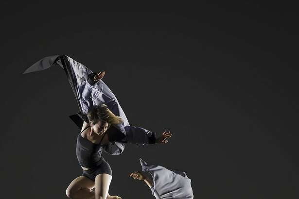"""Vivian Aragon and Alison Adnet of Garrett and Moulton Productions dance in the world premiere of """"Speak, Angels"""" at Yerba Buena Center for the Arts Theater through Sunday, July 30.  Photo by  RJ Muna"""
