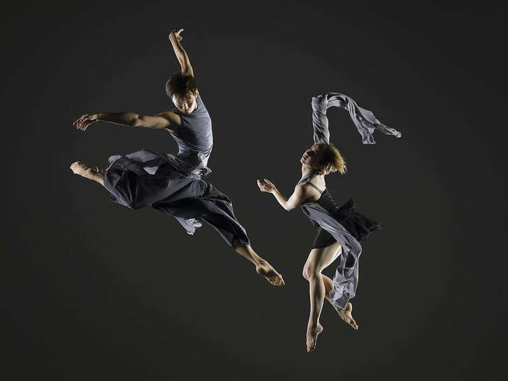 "Ryan Wang and Vivian Aragon of Garrett and Moulton Productions dance in the world premiere of ""Speak, Angels"" at Yerba Buena Center for the Arts Theater through Sunday July 3.  Photo by RJ Muna"