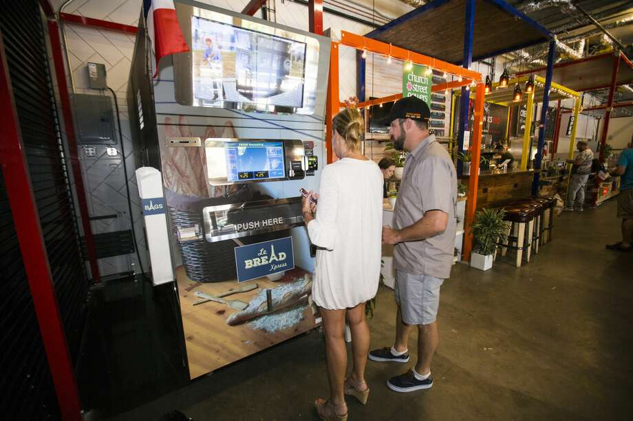 The Le Bread Xpress baguette vending machine, which delivers fresh bread on-demand. Photo: Le Bread Xpress/Courtesy