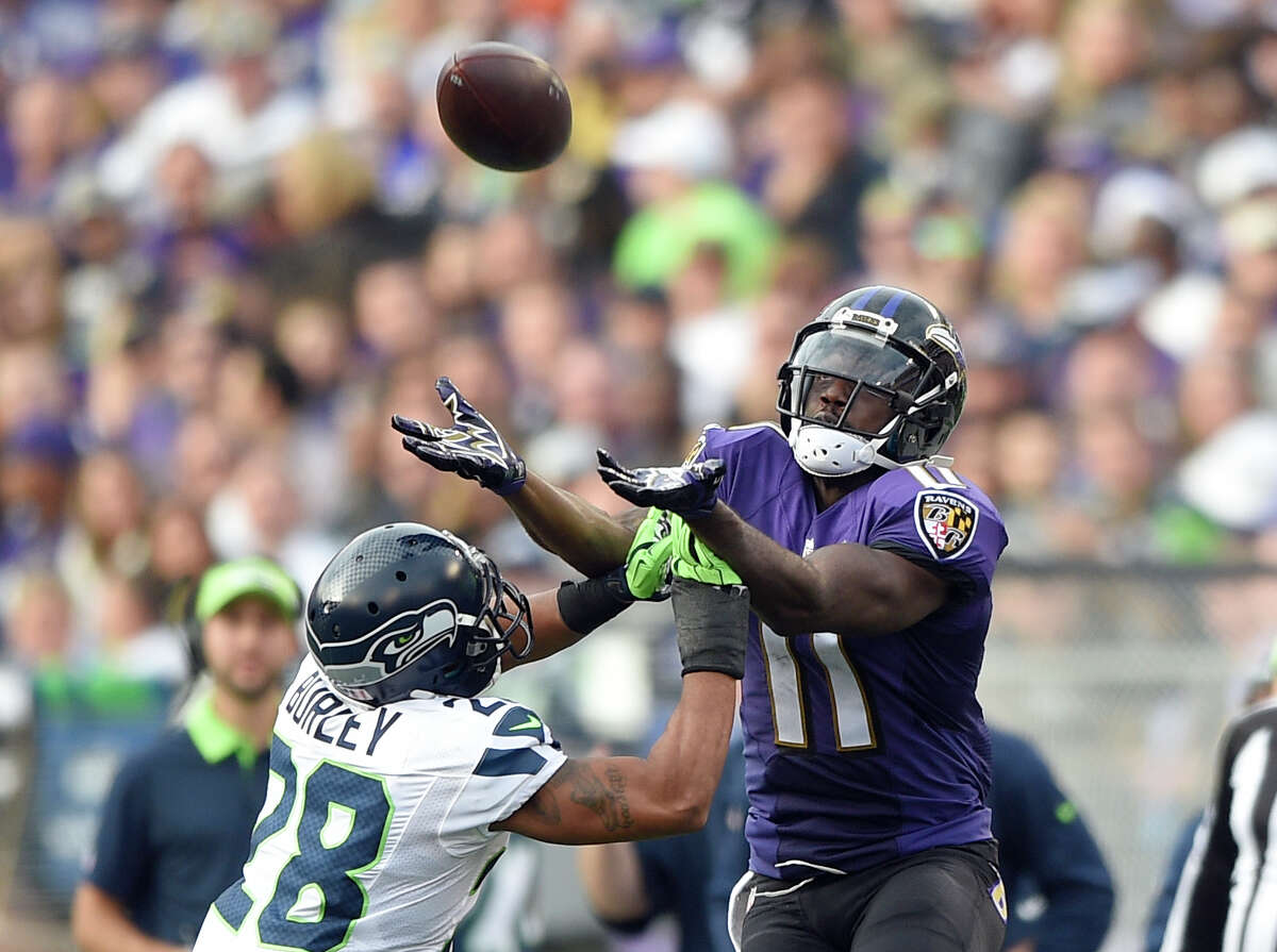 Baltimore Ravens (wide receiver) The Ravens have issues at wide receiver. Kamar Aiken (shown above) is the clear No. 1 option after catching 75 passes for 944 yards and five touchdowns last season. Mike Wallace was expected to be the No. 2 option opposite Aiken after signing a two-year, $11.5 million deal this offseason, but he failed the team's conditioning test this week. They're also waiting for the return of veteran Steve Smith, coming off an Achilles tear, and second-year man Breshad Perriman, coming off chronic knee issues that forced him to miss his entire rookie season. Perriman started training camp on the PUP (physically unable to perform) list.