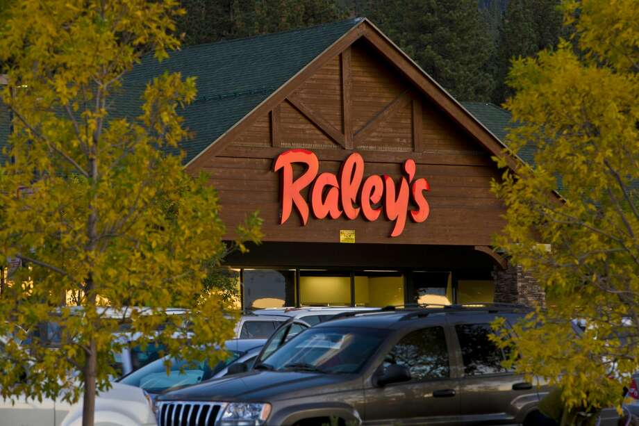 The entrance to Raley's Shopping Center is viewed on September 28, 2012, in South Lake Tahoe. Photo: George Rose/Getty Images