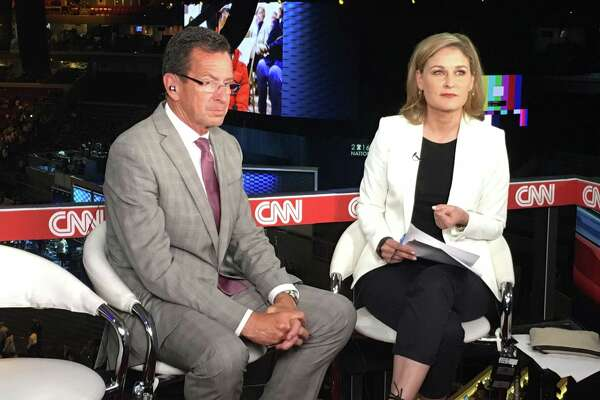 Gov. Dannel P. Malloy sits down for an interview with Hala Gorani of CNN at the Wells Fargo Center in Philadelphia, PA on Tuesday, July 26, 2016.