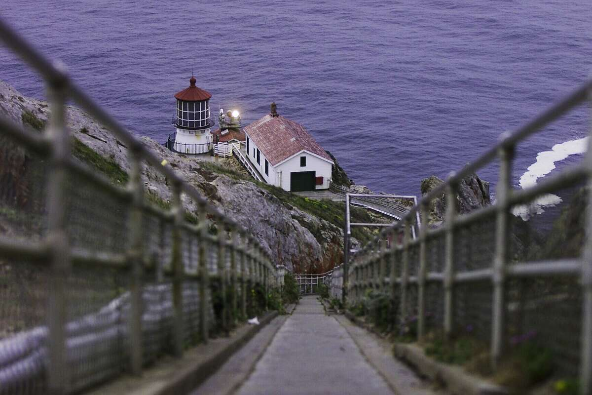 LIGHTHOUSE01-C-29NOV00-NZ-CS Lighthouse fans must navigate over 300 steps down (and then up) to visit the Pt. Reyes Lighthouse within the Point Reyes National Seashore in Marin County. The lighthouse was built in 1870. SAN FRANCISCO CHRONICLE PHOTO BY CHRIS STEWART