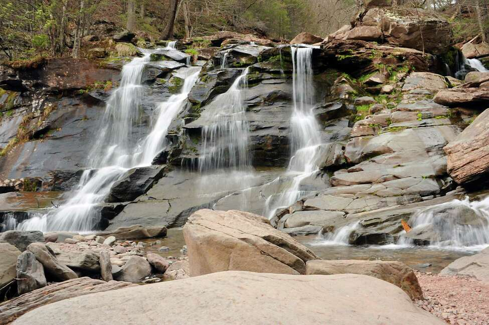The Kaaterskill Falls on Thursday, April 28, 2016 in Haines Falls, N.Y. (Lori Van Buren / Times Union)