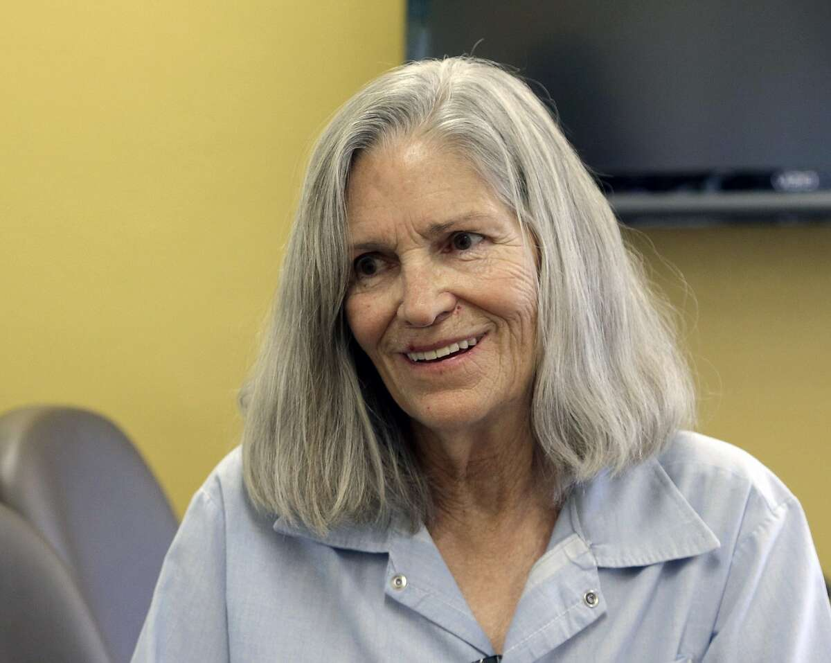 In this April 14, 2016 file photo, former Charles Manson follower Leslie Van Houten confers with her attorney Rich Pfeiffer, not shown, during a break from her hearing before the California Board of Parole Hearings at the California Institution for Women in Chino, Calif. California Gov. Jerry Brown is denying parole for Van Houten, the youngest follower of murderous cult leader Charles Manson.