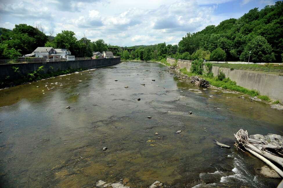 A view of the Hoosic River on Tuesday, June 28, 2016, in Hoosick Falls, N.Y. (Paul Buckowski / Times Union archive)