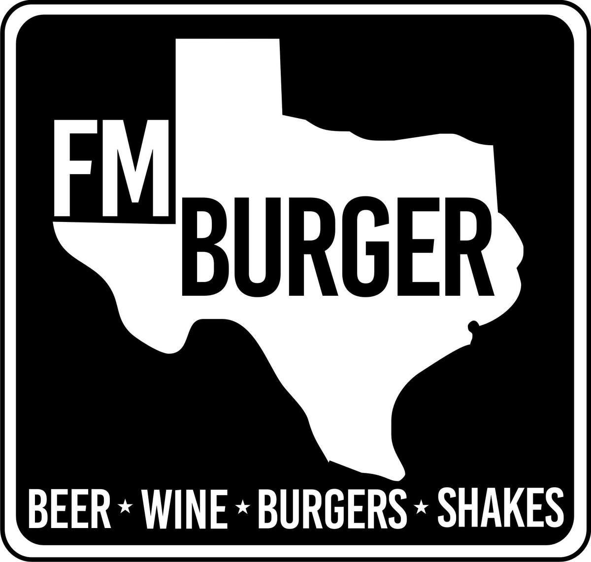 The logo for FM Burber, a new burger restaurant at 1112 Shepherd from chef Ryan Hildebrand and partner Chong Yi of Triniti restaurant.