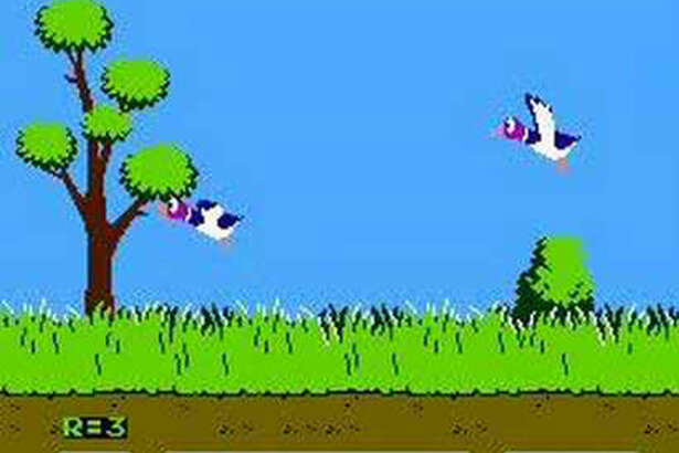 1984: DUCK HUNT - NES Using Nintendo's Zapper light gun, players attempted to shoot down ducks and clay pigeons. Then when they failed to do that, they would place the gun directly against the TV screen to really cause some carnage. If you somehow failed (or refused to cheat), your very unhelpful hunting dog would snicker at your poor shooting skills—and despite as many times as you may have tried, you could not shoot him.