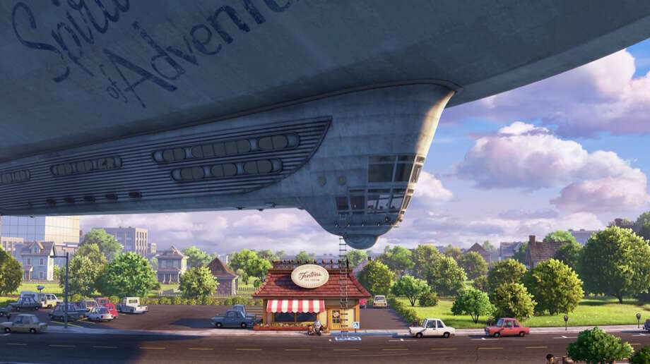 "Pixar movie scenes that you can visit in real life in the Bay Area The ice cream shop at the end of ""Up"" . . .  Photo: ©Disney•Pixar"