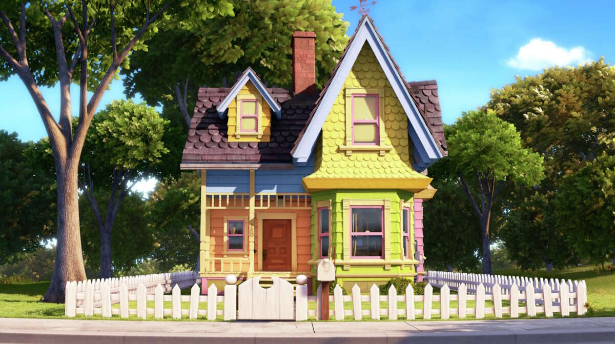 Carl Fredricksen's tiny yellow house in