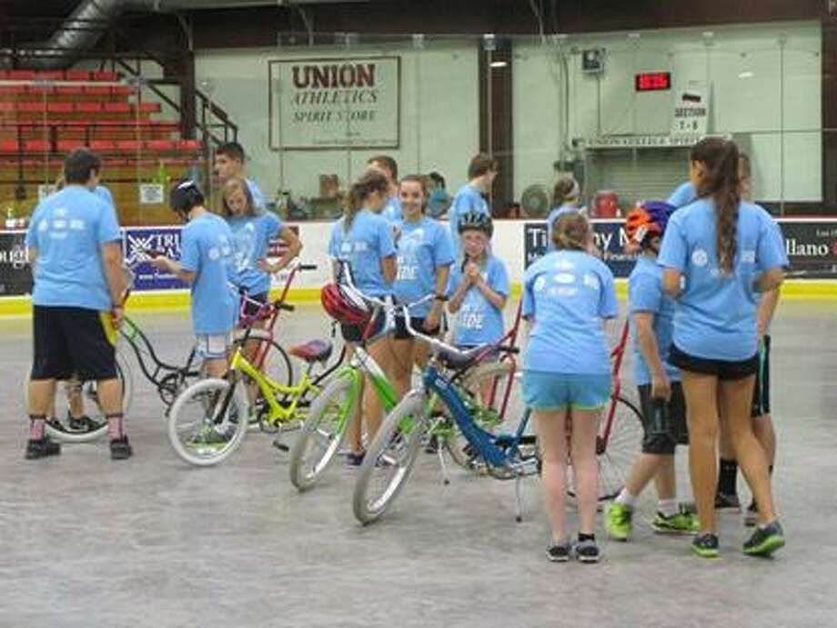 Riders and Runners gather at Union College last week for STRIDE Adaptive Sport's I Can Ride program (submitted photo)