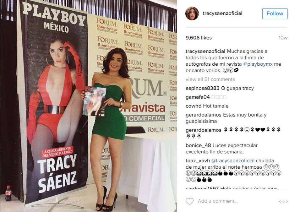 """Attorneys for Mexican Playboy model Tracy Saenz have filed an injunction in an attempt to prevent their client from receiving a detention order because of her acting role in Gerard Ortiz's controversial """"Fuiste Mia"""" music video. Photo: Instagram / Tracy Saenz"""