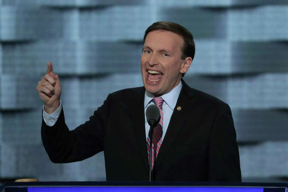 PHILADELPHIA, PA - JULY 27:   Sen. Chris Murphy (D-CT)  delivers remarks on the third day of the Democratic National Convention at the Wells Fargo Center, July 27, 2016 in Philadelphia, Pennsylvania. Democratic presidential candidate Hillary Clinton received the number of votes needed to secure the party's nomination. An estimated 50,000 people are expected in Philadelphia, including hundreds of protesters and members of the media. The four-day Democratic National Convention kicked off July 25. Photo: Alex Wong, Getty Images / 2016 Getty Images