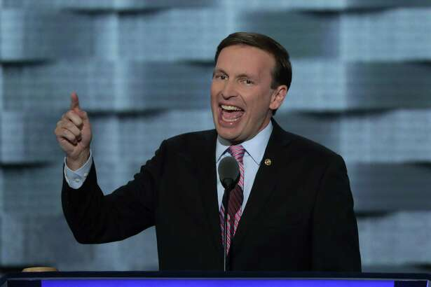PHILADELPHIA, PA - JULY 27:   Sen. Chris Murphy (D-CT)  delivers remarks on the third day of the Democratic National Convention at the Wells Fargo Center, July 27, 2016 in Philadelphia, Pennsylvania. Democratic presidential candidate Hillary Clinton received the number of votes needed to secure the party's nomination. An estimated 50,000 people are expected in Philadelphia, including hundreds of protesters and members of the media. The four-day Democratic National Convention kicked off July 25.