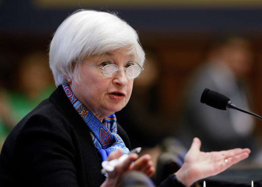 FILE - In this Wednesday, June 22, 2016, file photo, Federal Reserve Chair Janet Yellen testifies on Capitol Hill in Washington, before the House Financial Services Committee hearing on U.S. monetary policy. The Federal Reserve releases its latest monetary policy statement Wednesday, July 27, after wrapping up a two-day meeting. (AP Photo/Manuel Balce Ceneta, File) ORG XMIT: NYBZ352 Photo: Manuel Balce Ceneta / Copyright 2016 The Associated Press. All rights reserved. This m