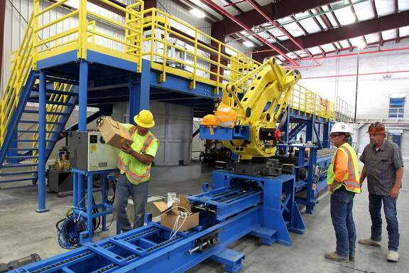 Construction continues at Aqua Metals were lead bars will be poured at the new battery recycling plant outside Sparks Nevada. The new facility stands at 138 thousand square foot, and will employ seventy people at a cost of thirty million dollars Wednesday, July 27, 2016.
