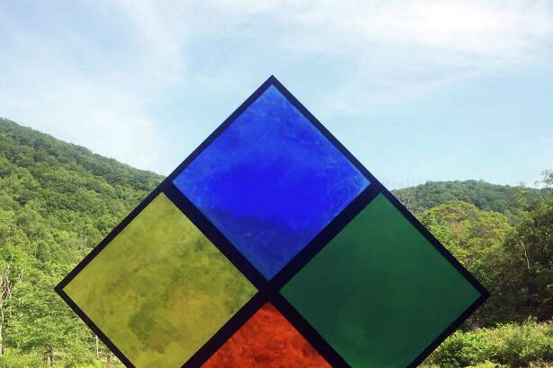 The Harts Gallery in New Milford will present a series of site-specific outdoor installations by Lauren Booth at the Great Hollow Nature Preserve, which borders Sherman and New Fairfield, July 31 through Sept. 10. An inaugural hike to the works will be offered July 31 from 10 a.m. to noon at the 825-acre land preserve at 225 Route 37. The preserve contains six miles of hiking trails, wetlands, streams and forest, open to the public from dawn until dusk. Above is Booths four-square diamond. For more information, call 917-913-4641 or email thehartsgallery@gmail.com.