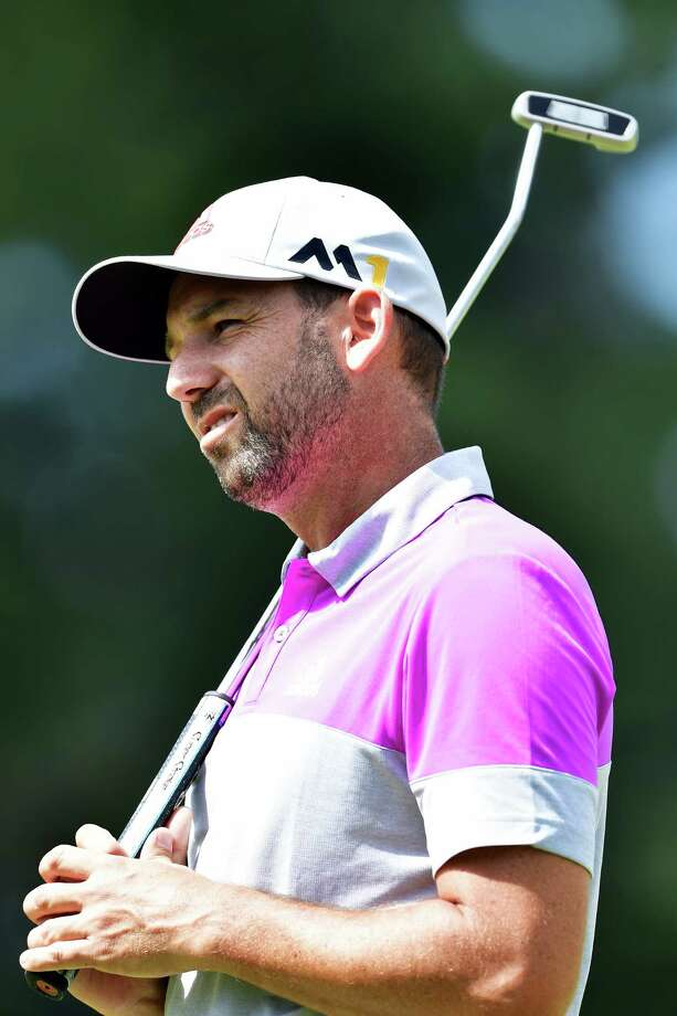 SPRINGFIELD, NJ - JULY 27: Sergio Garcia of Spain reacts during a practice round prior to the 2016 PGA Championship at Baltusrol Golf Club on July 27, 2016 in Springfield, New Jersey.  (Photo by Stuart Franklin/Getty Images) ORG XMIT: 597244529 Photo: Stuart Franklin / 2016 Getty Images