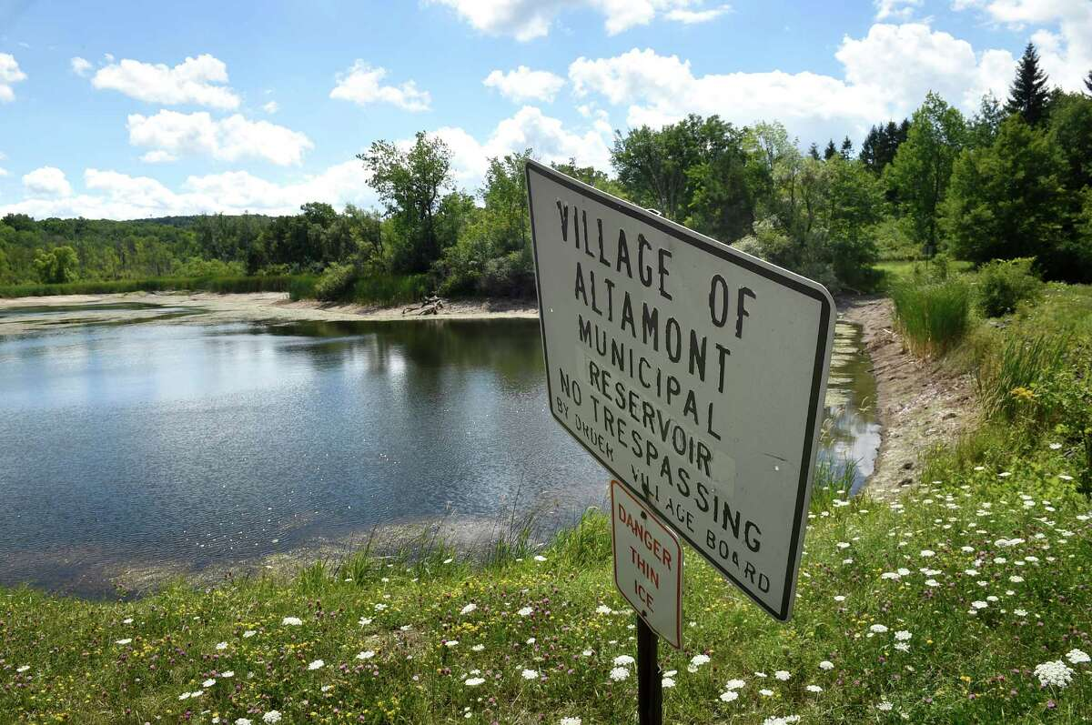 Altamont Main Reservoir in Knox, Albany County, was built in 1898. It is owned by Altamont Village and its main purpose is Drinking water supplementary. It is in