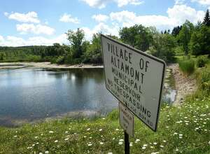 Reservoir on Tuesday, July 26, 2016, in Knox, N.Y. Altamont is suing Knox to lower the assessment on the unused reservoir that Altamont owns in Knox. (Cindy Schultz / Times Union)