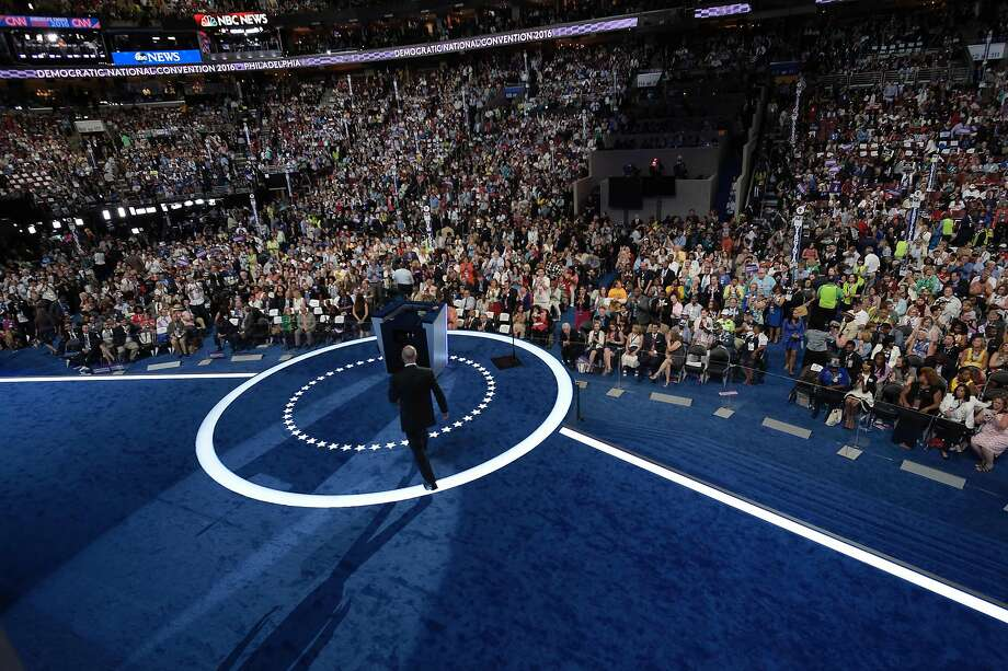 California Governor Jerry Brown arrives to address delegates on Day 3 of the Democratic National Convention at the Wells Fargo Center in Philadelphia, Pennsylvania, July 27, 2016. / AFP PHOTO / Brendan SmialowskiBRENDAN SMIALOWSKI/AFP/Getty Images Photo: BRENDAN SMIALOWSKI, AFP/Getty Images
