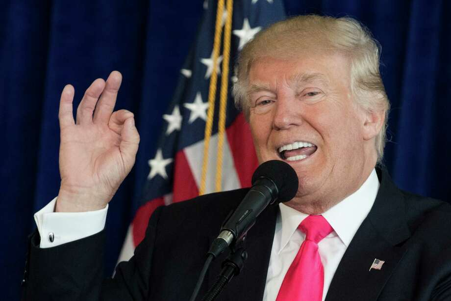 Republican presidential candidate Donald Trump speaks during a news conference at Trump National Doral, Wednesday, July 27, 2016, in Doral, Fla. (AP Photo/Evan Vucci) ORG XMIT: FLEV119 Photo: Evan Vucci / Copyright 2016 The Associated Press. All rights reserved. This m