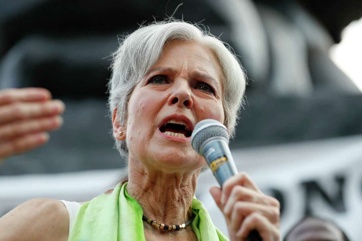 Dr. Jill Stein, presumptive Green Party presidential nominee, speaks at a rally in Philadelphia, Wednesday, July 27, 2016, during the third day of the Democratic National Convention. (AP Photo/Alex Brandon) ORG XMIT: DNC724