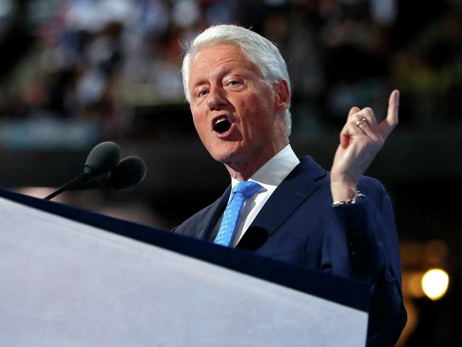 FILE - In this July 26, 2016 file photo, former President Bill Clinton speaks during the second day session of the Democratic National Convention in Philadelphia. The Democratic National Convention speaker's lineup has highlighted an increasingly diverse country that could soon elect the first female president as successor to its first black chief executive. (AP Photo/Carolyn Kaster, File) ORG XMIT: WX109 Photo: Carolyn Kaster / Copyright 2016 The Associated Press. All rights reserved. This m