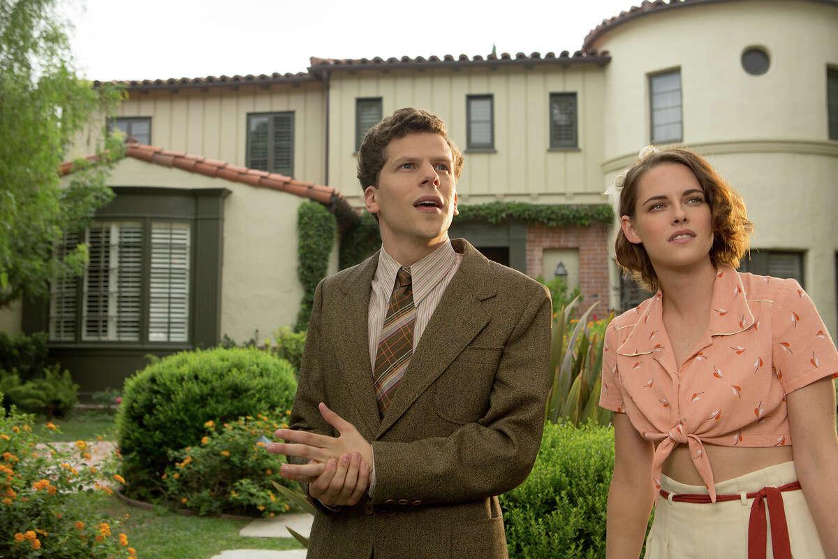 """Bobby (Jesse Eisenberg) and Vonnie (Kristen Stewart) in """"Cafe Society."""" MUST CREDIT: Sabrina Lantos, Lionsgate"""