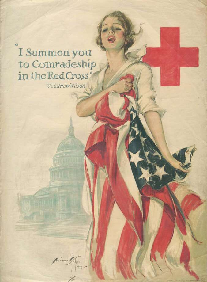 Forty World War I-era posters will be on display this week at the Bexar County Courthouse. Photo: Courtesy Photo