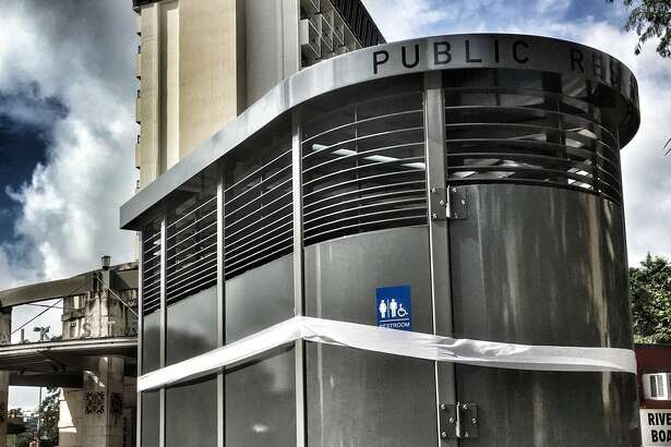 Check out San Antonio's new public restroom at the corner of Alamo and Commerce streets.