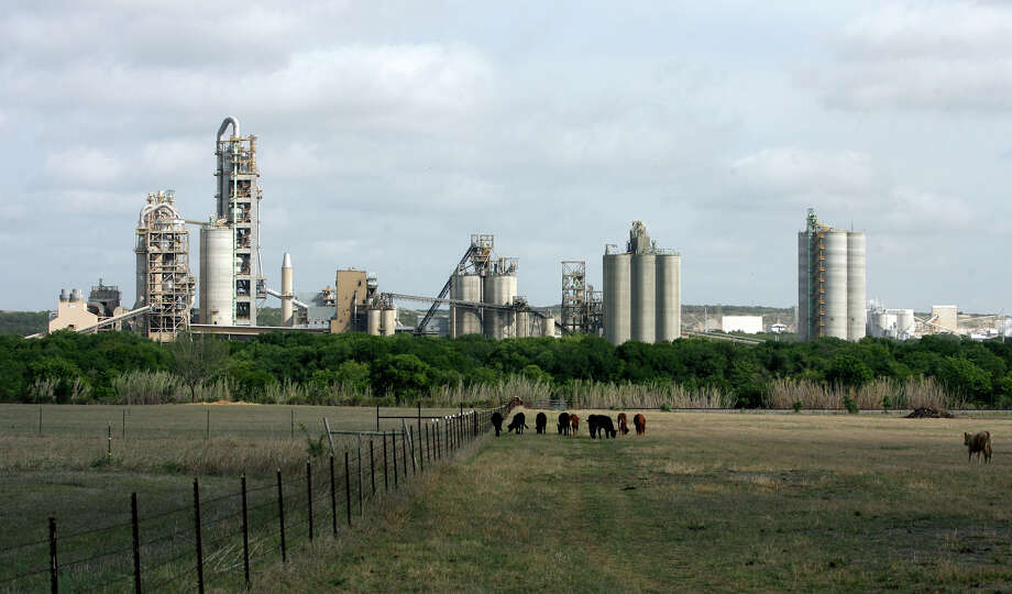Cattle graze in a pasture near the Cemex plant near New Braunfels in 2009. Photo: San Antonio Express-News File Photo / treel@express-news.net