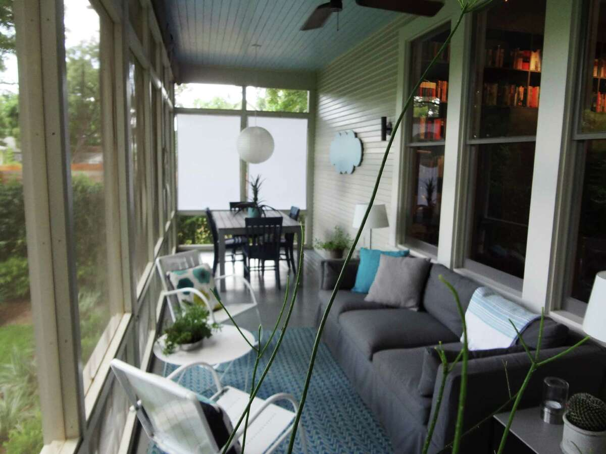 The screened back porch is a favorite plan to entertain guests.