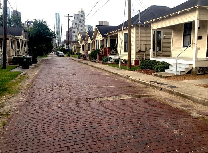 The Houston Housing Authority nominated 22 of its homes, renovated as part of a special initiative, for the city's protected landmark status. Photo by Leah Binkovitz.