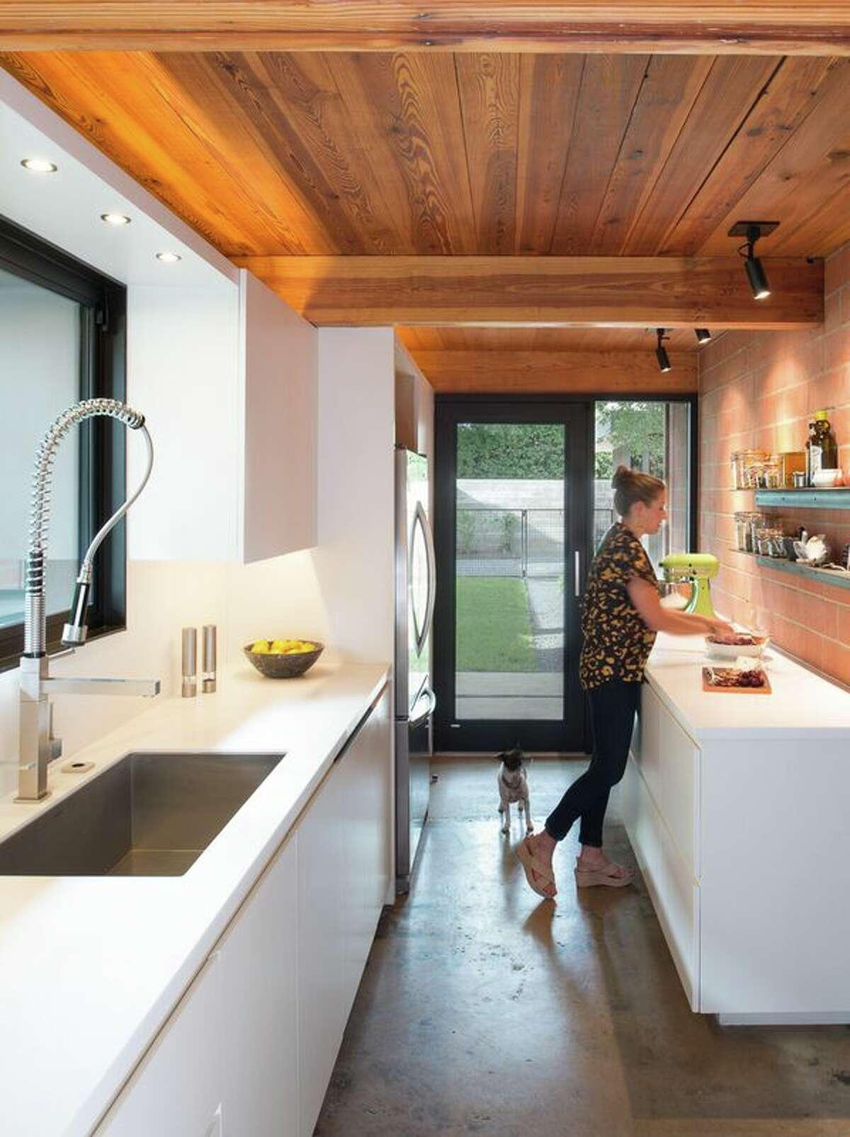 Courtney Smith in the kitchen.