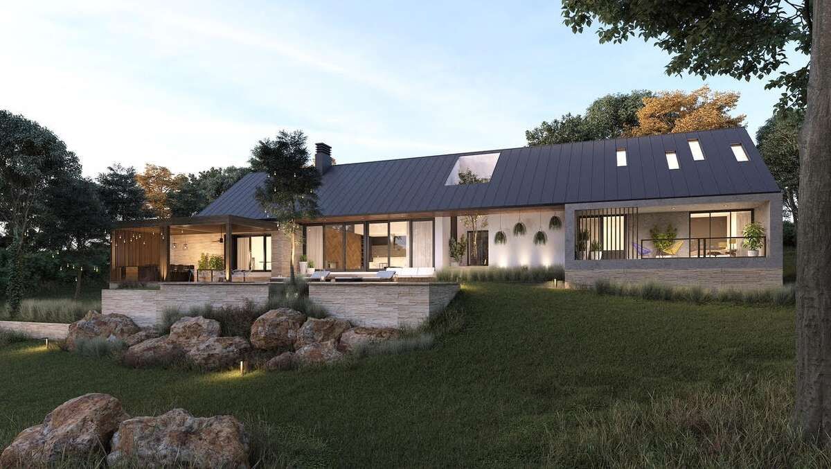 A rendering of the back of the Canyon Springs home.