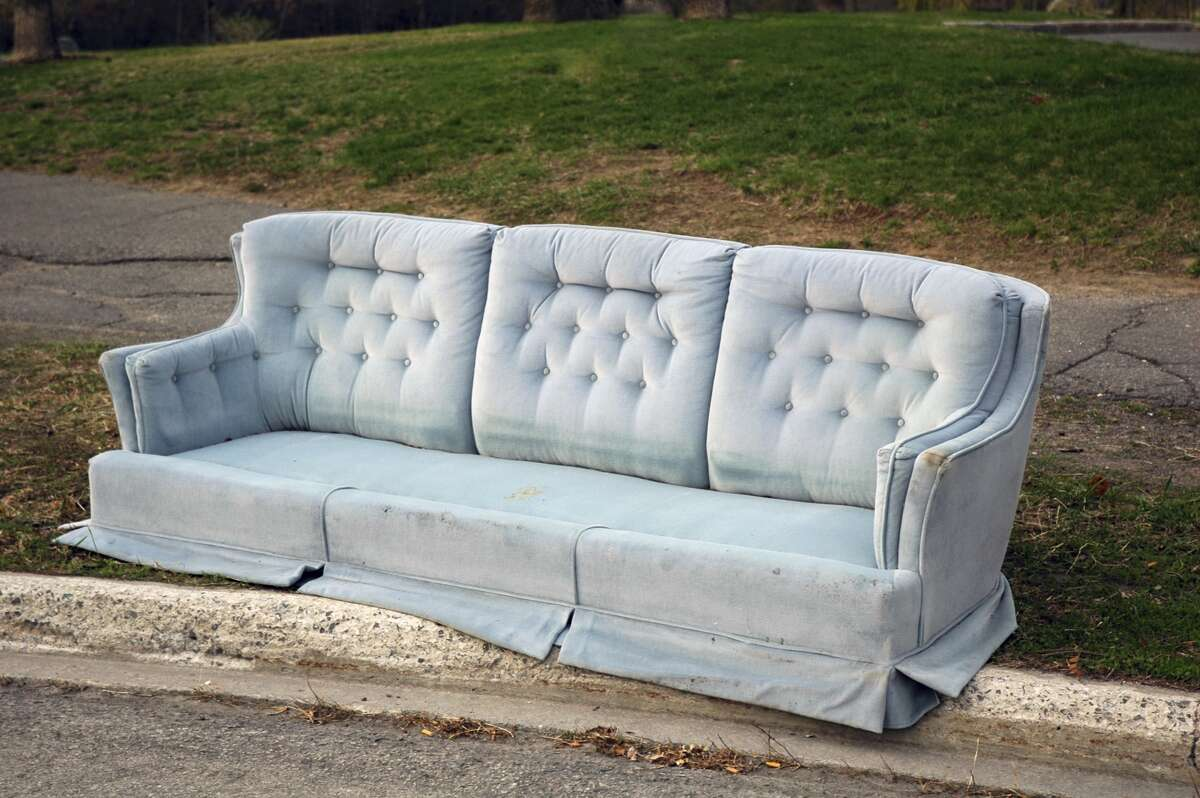 When you get a new couch, you sometimes leave the old one on the curb, which isnot really the way you're supposed to handle furniture disposal.