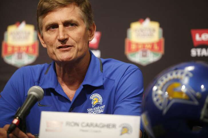 San Jose State's head coach Ron Caragher speaks during a press conference at the Bay Area Football Media Day on Thursday, July 28, 2016  at Levi Stadium in Santa Clara.