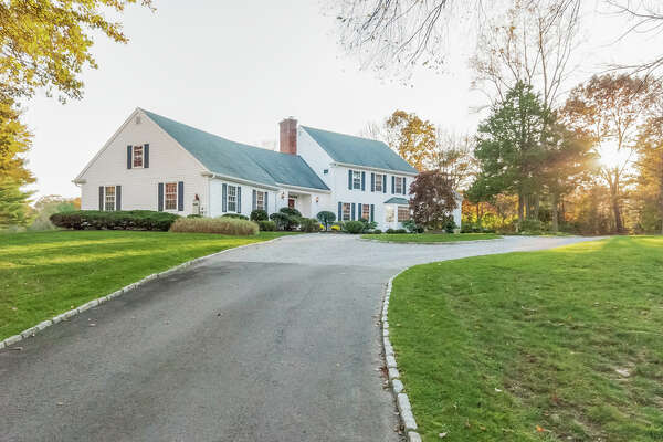 A single-family home on Adam Road in New Canaan for sale by William Raveis. Single-family home sales in Connecticut saw a bump during the month of June, according to a new report from The Warren Group.