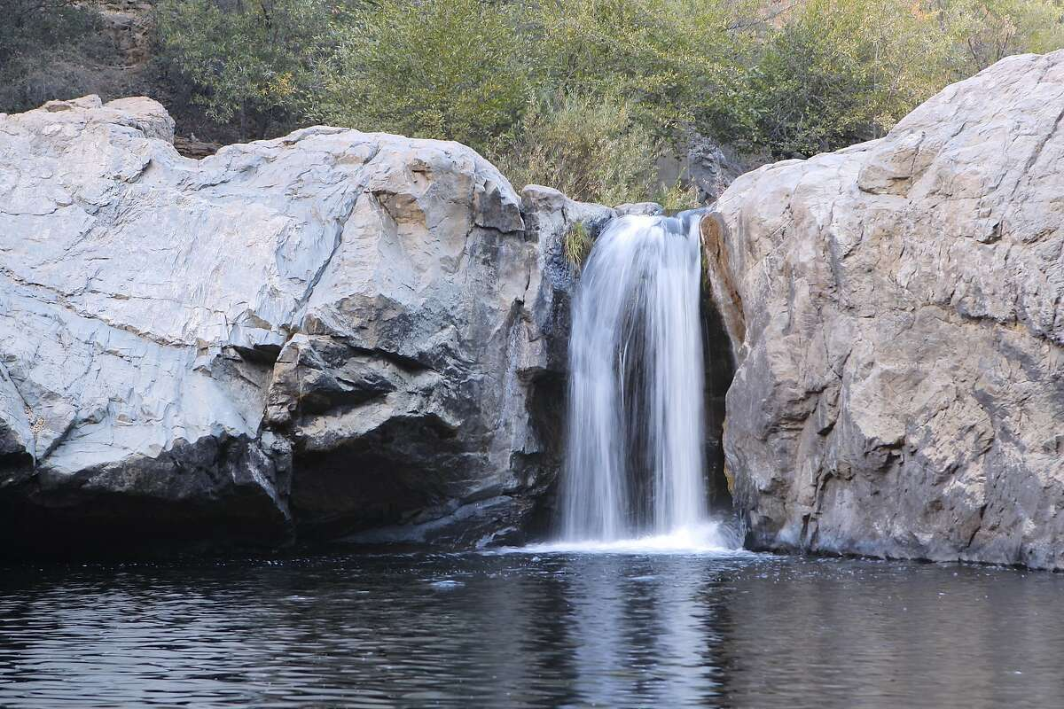 Rainbow Pool is one of California's most iconic swimming holes, closed by surrounding damage from the Rim Fire last year, and is located east of Groveland on a spur off of Highway 120 on the route to the Big Oak Flat entrance to Yosemite National Park