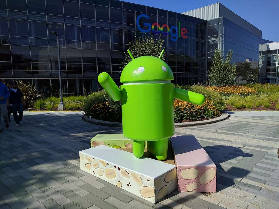 Russia ruled against Google's Android operating system, represented by this statue. Photo: Associated Press
