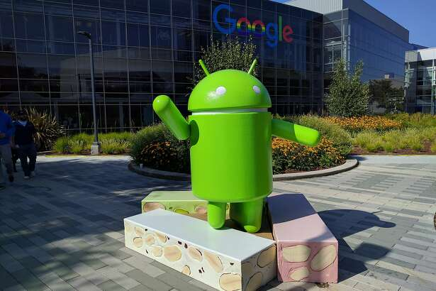 FILE - This Thursday, June 30, 2016, file photo provided by Google shows the Android Nougat statue at Google campus in Mountain View, Calif. Alphabet Inc., parent of Google, on Thursday, July 28, reported second-quarter earnings of $4.88 billion. (Google via AP, File)