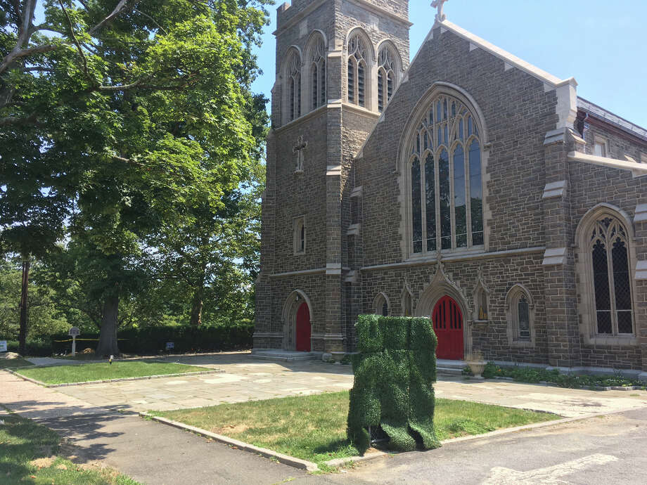 The plaza of Christ Church is the next target for renovation as part of the church's $10 million upgrade. Photo: Peregrine Frissell / Hearst Connecticut Media / Greenwich Time