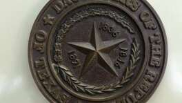 This file photo shows the emblem of the Daughters of the Republic of Texas. The DRT can do more to assuage legitimate concerns on conditions of current storage of important historical items and on their future home.