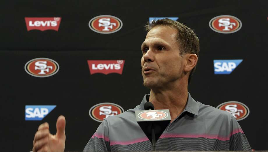 05bfde77ca4 San Francisco 49ers  GM Trent Baalke speaks at a press conference. Photo   Michael