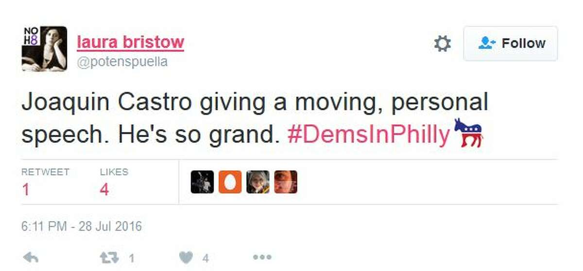 Social media reaction to Joaquin Castro's speech in Philly.